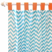 Orange Crush Curtain Panel Set