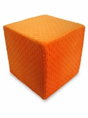 Orange Dot Minky Foam Block