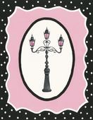 Oui Paris Light Post Canvas Wall Art
