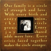Our Family Is a Circle Photobox Frame
