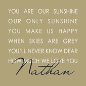 Our Sunshine Beige Personalized Canvas Wall Art
