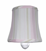 Pajama Stripe Pink Night Light