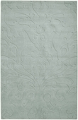 Pale Blue Damask Sculpture Loomed Rug