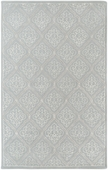 Pale Blue Diamond Damask Candice Olson Hand-Tufted Rug