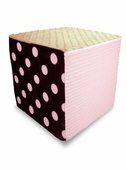 Pale Pink/Neutral Minky Foam Block