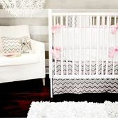 Peace, Love & Pink 2-Piece Crib Bedding Set