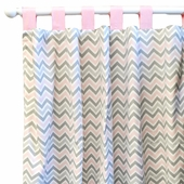 Peace, Love & Pink Curtain Panel Set