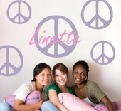 Peace Sign Custom Personalized Wall Decal