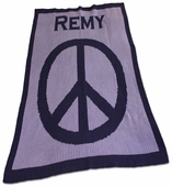 Peace Sign Personalized Blanket