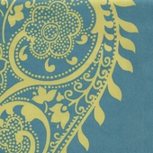 Peacock Paisley Fabric