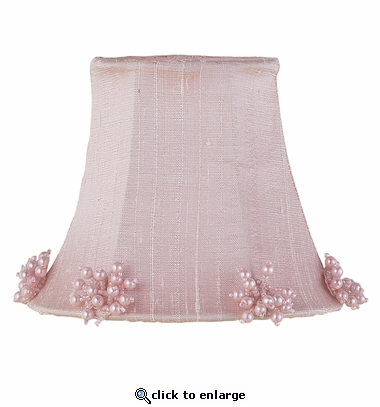 Pearl Burst Pink Chandelier Shade
