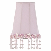 Pearl Flower Pink Sconce Shade
