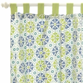 Pedal Pusher in Blue Curtain Panel Set