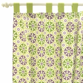 Pedal Pusher in Lavender Curtain Panel Set