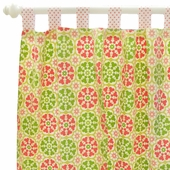 Pedal Pusher in Pink Curtain Panel Set