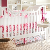 Penelope in Pink 2-Piece Crib Bedding Set