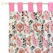 Penelope in Pink Curtain Panel Set
