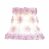Petal Flower White & Pink Chandelier Shade