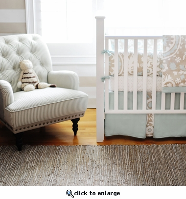 Picket Fence 2-Piece Crib Bedding Set