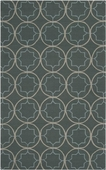 Pigeon Gray Scope Rain Hand-Hooked Outdoor Rug