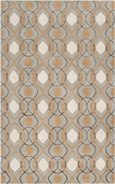 Pigeon Gray & Tan Candice Olson Hand-Tufted Rug