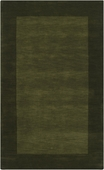 Pine Green Border Mystique Hand-Crafted Rug