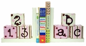 Pink & Chocolate ABC 123 Bookends