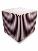 Pink/Chocolate Stripe Minky Foam Block