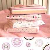 Pink Circle Dot Changing Pad Cover