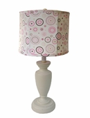 Pink Circle Dot Childtop Urn Lamp
