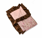 Pink Circle Dot Ruffle Blanket