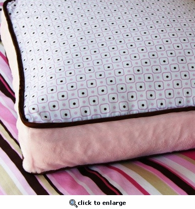 Pink Classic Square Accent Pillow