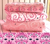 Pink Damask Changing Pad Cover