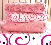 Pink Dark Swirl Changing Pad Cover
