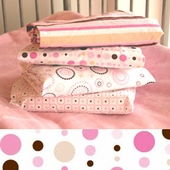 Pink Dot Line Changing Pad Cover
