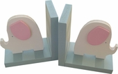 Pink Elephant Bookends
