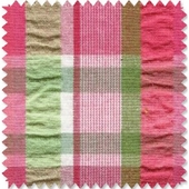 Pink & Green Plaid Fabric