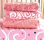 Pink Light Swirl Changing Pad Cover