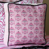 Pink Luxe Square Accent Pillow