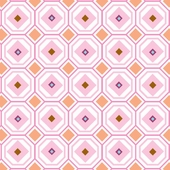 Pink Octagon Fabric