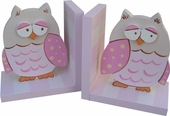 Pink Owl Bookends
