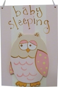 Pink Owl Door Hang