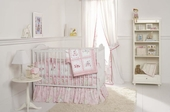 Pink Pagoda 3-Piece Crib Bedding Set