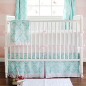 Pink Paris 2-Piece Crib Bedding Set