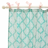 Pink Paris Curtain Panel Set
