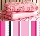 Pink Pinstripe Fitted Crib Sheet