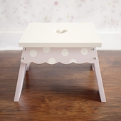 Pink Polka Dot Step Stool