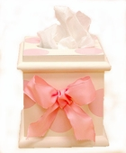Pink Polka Dot Tissue Box Cover