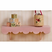 Pink Scalloped Wall Shelf