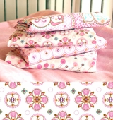 Pink Small Moroccan Changing Pad Cover
